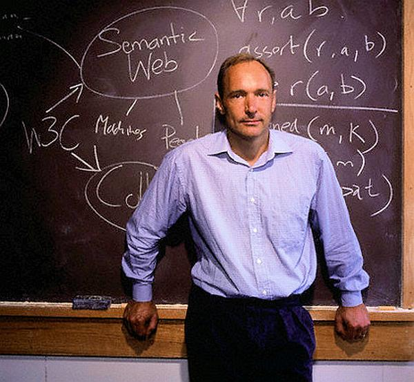 Sir Tim Berners Lee: Inventor of the World Wide Web.