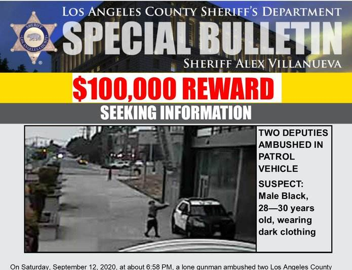 Los Angeles Offers $100,000 Reward in Ambush Shooting of Deputies – The  Patriots Report