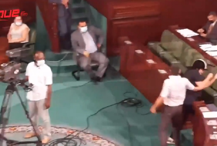 WATCH: If You Can't Beat Them, Beat Them – Muslim Brotherhood Member Attacks Woman of Opposition Party in Parliament