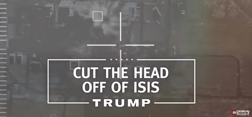 Image result for cut the head off of isis trump