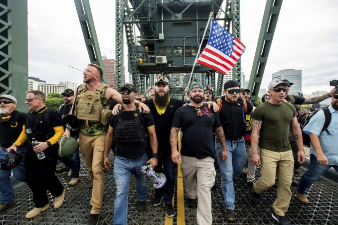 Image result for Proud Boys Statement: Patriots Promise to Revisit Portland If Mayor Wheeler Continues to Ignore Antifa Terrorists