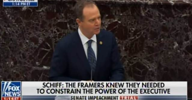 INSANE: Adam Schiff Goes off on Deranged Russia-Trump Conspiracy in Opening Arguments at Trump Impeachment (VIDEO)