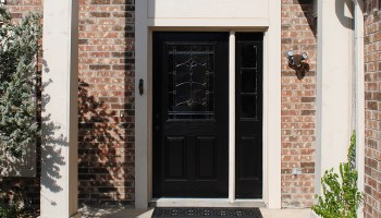 DIY Black And White Painted Front Door - The Gathered Home
