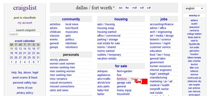 Craigslist Houston Furniture By Owner Gallery Of Creative