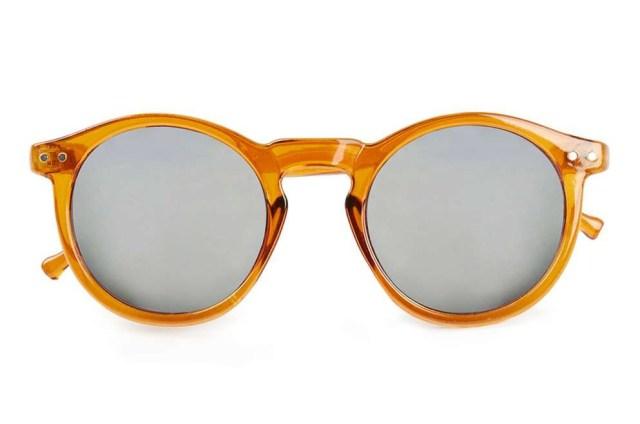 Honey Round Plastic Sunglasses