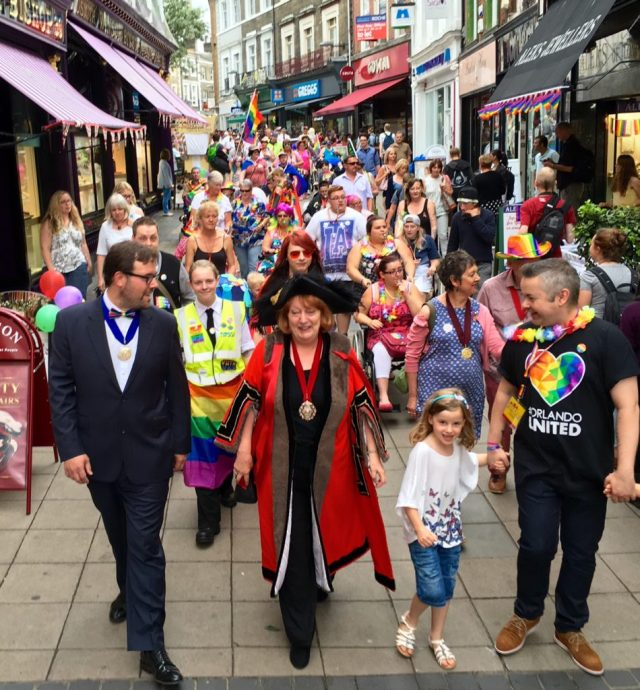 Norwich pride with Lord mayor Marion