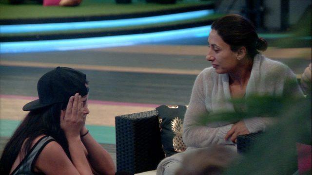 Saira Marnie exposes her breasts to Saira Khan