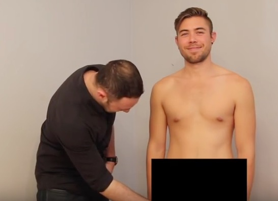 Straight men touch penis for the first time