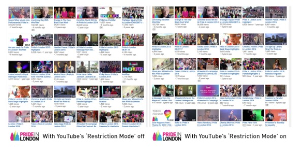 London Pride and YouTube ban