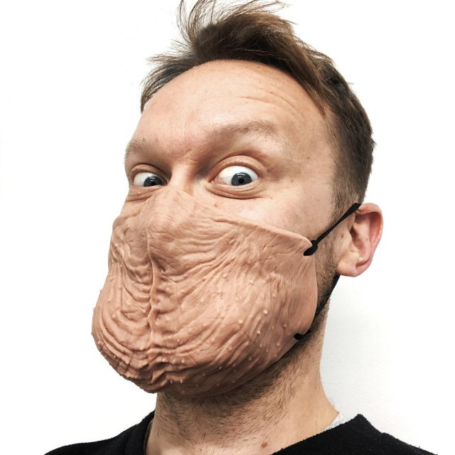 testicle face mask