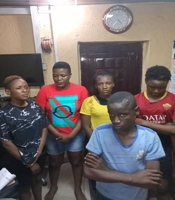 Police Nab Five For Stealing Underwear