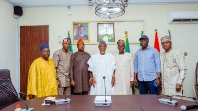 Photo of In Pictures, Aregbesola Receives Leadership Of Osogbo Chapter Of NSE