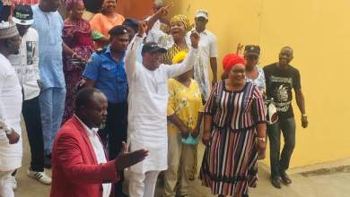 Photo of Exclusive Pictures Of Apostle Toba Oke's Return To Office