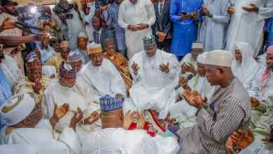 Photo of Photo News: Senate President At Senator Sani Musa's Brother's Wedding