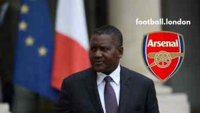 Photo of Dangote Must Pay About N1tr To Buy Arsenal