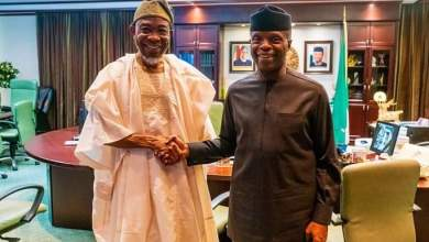 Photo of In Pictures, Aregbesola Felicitates With Oshinbajo @63