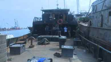 Photo of Vessel, Five Suspected Illegal Oil Dealers Arrested In Lagos