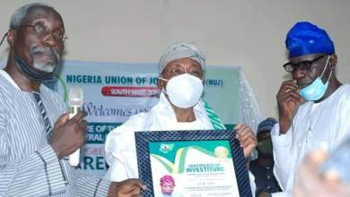 Photo of Why Aregbesola Was Installed S/West NUJ Grand Patron – NUJ Zonal Scribe + Photos Of Investiture