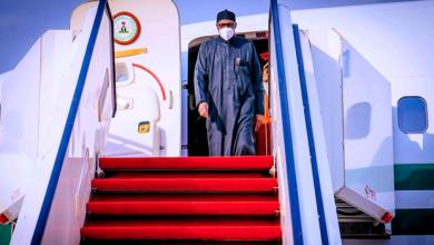 Photo of Breaking: Buhari Returns From UK