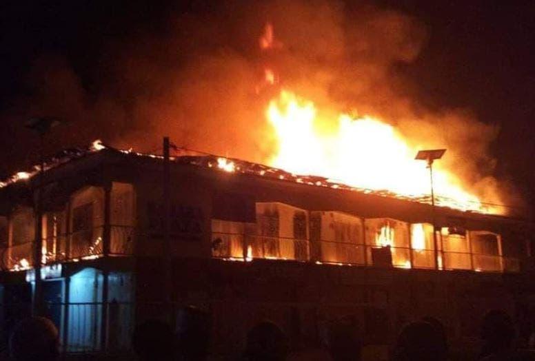 Breaking: Watch Video As Fire Guts Kairo Market (Oshodi)