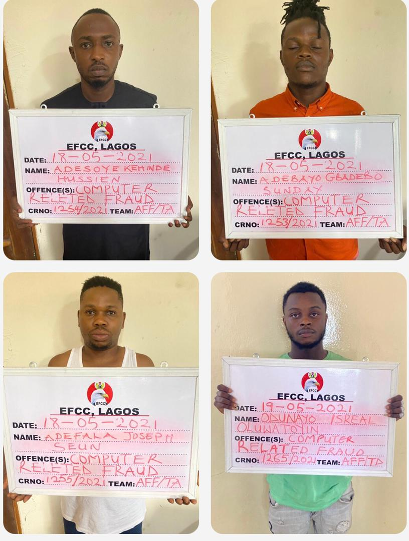 EFCC Arrests Club Owner, 14 Others For 'Yahoo' Offence In Lagos