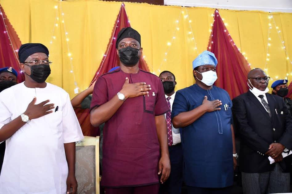 Makinde Swears-in Newly 32 Elected LG Chairmen,Urges Them To Replicate Good Governance At LGs