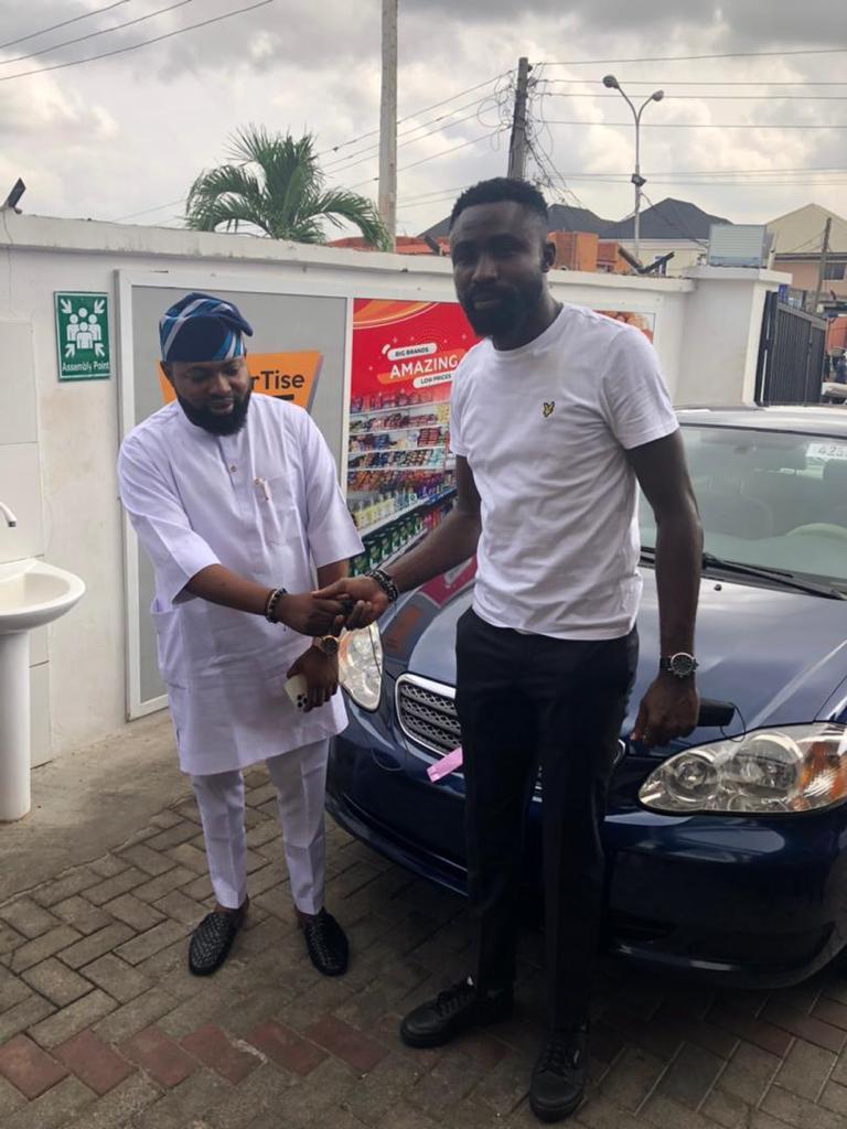 OldEnglish Boss Akogun Lanre Alfred Rewards Staff With Car Gift