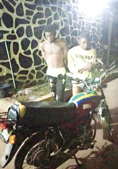 Two Arrested For Snatching Motorcycle At Gunpoint