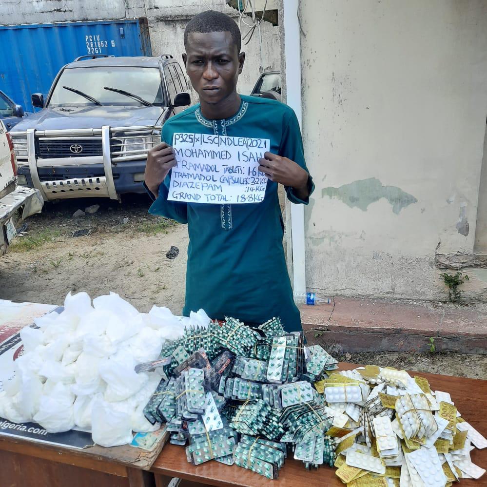 NDLEA Intercepts Sambisa-bound 34,950 Tramadol, Diazepam Capsules In Lagos + Photos