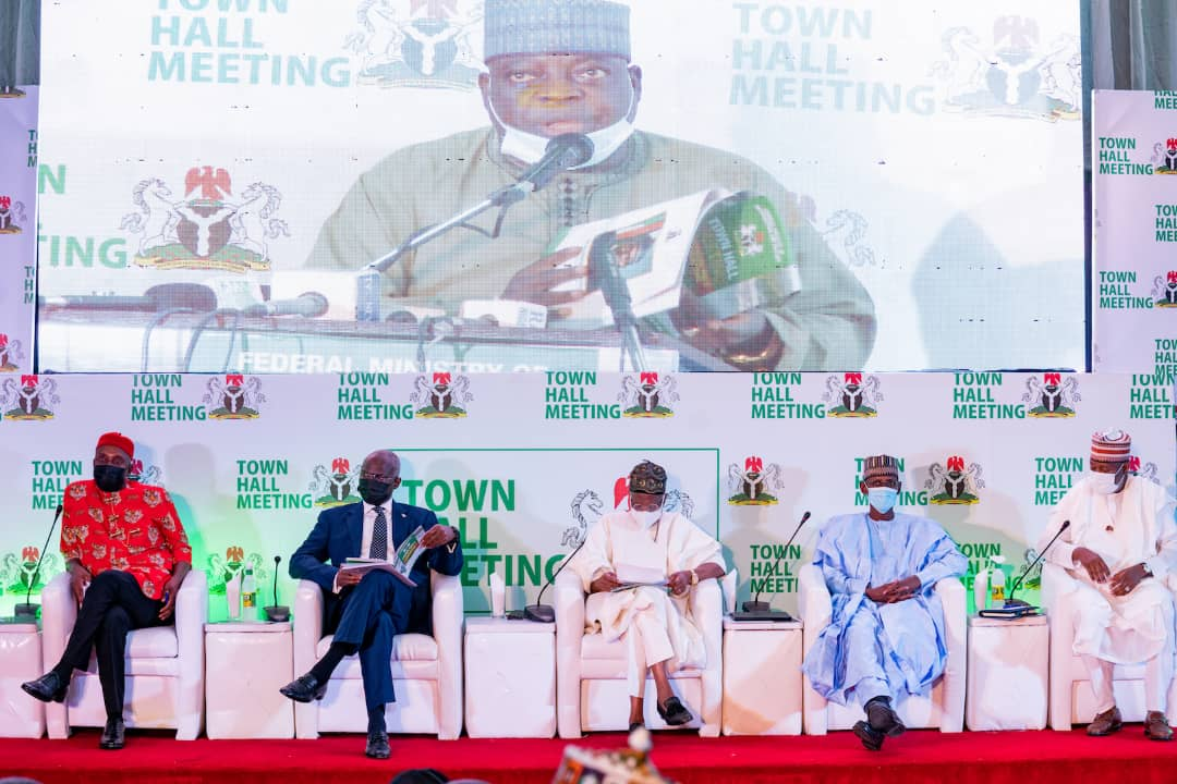 In Pictures, Fashola, Mohammed, Others At Town Hall Meeting On Protection Public Infrastructure