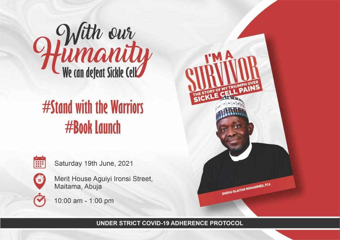 Book On Sickle Cell Disorder, I'm A Survivor, To Be Launched In Abuja June 19