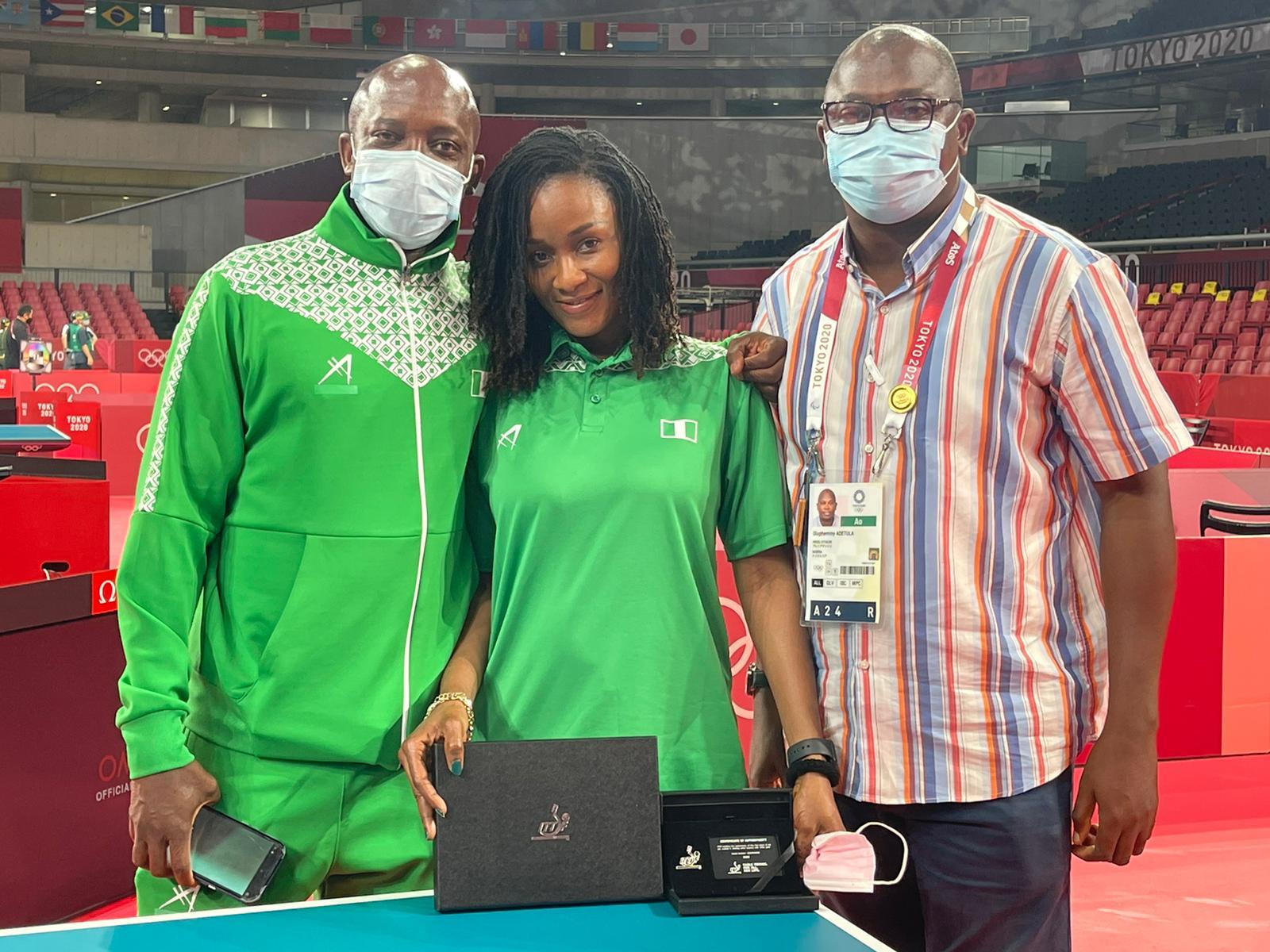 Funke Oshonaike Inducted Into ITTF Club 7