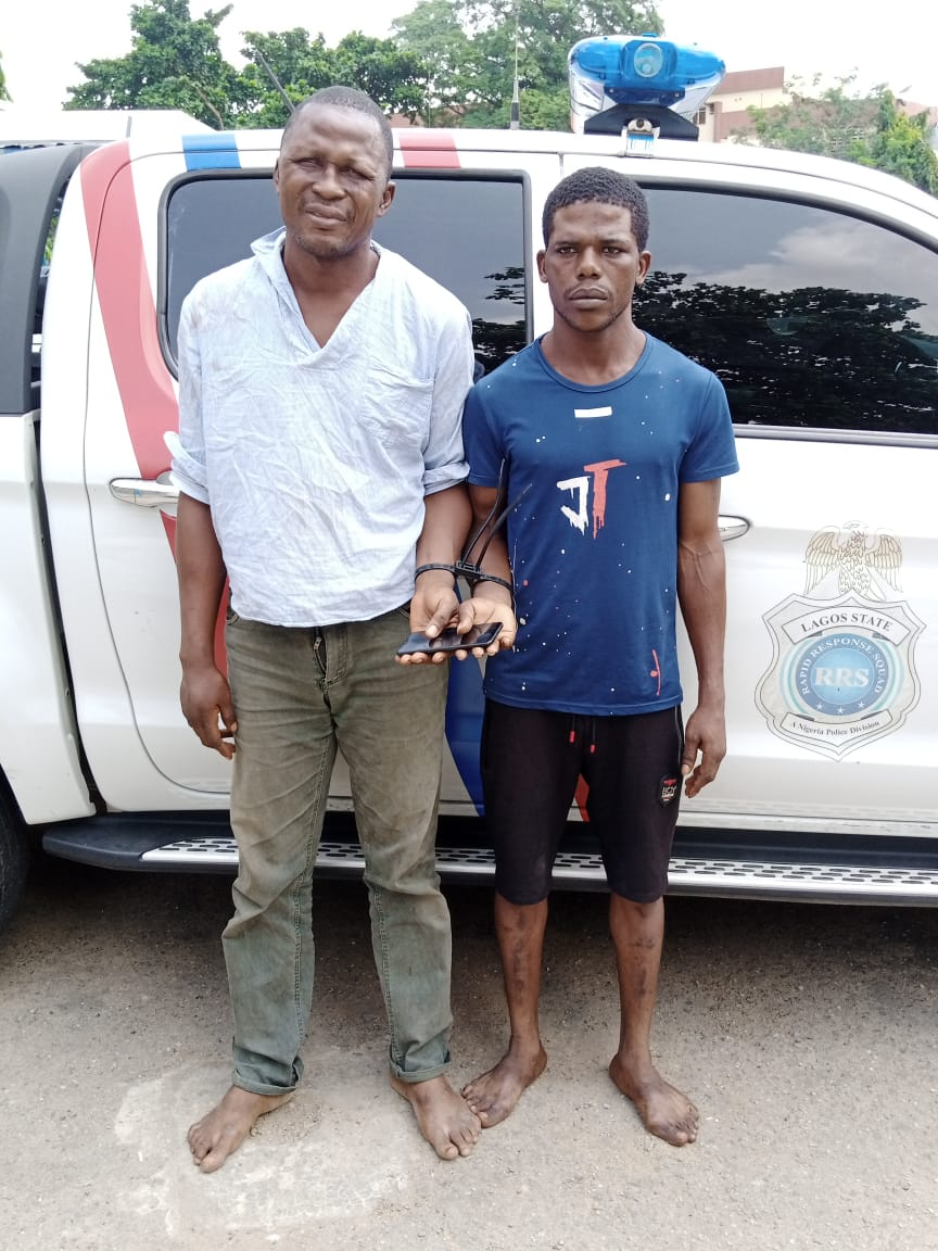 RRS Apprehend Serial Phone Snatchers At Computer Village, Recover Victim's Phone With Sim Cards