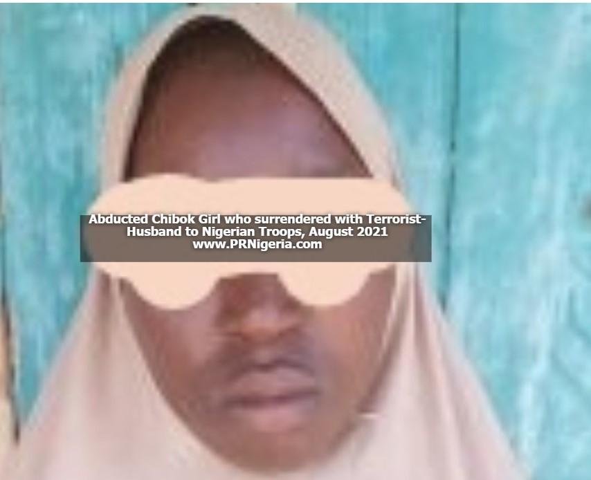 PHOTO: Abducted Chibok Girl, Terrorist-husband Surrender To Nigerian Troops;More ISWAP-Boko Haram Members Willing To Surrender