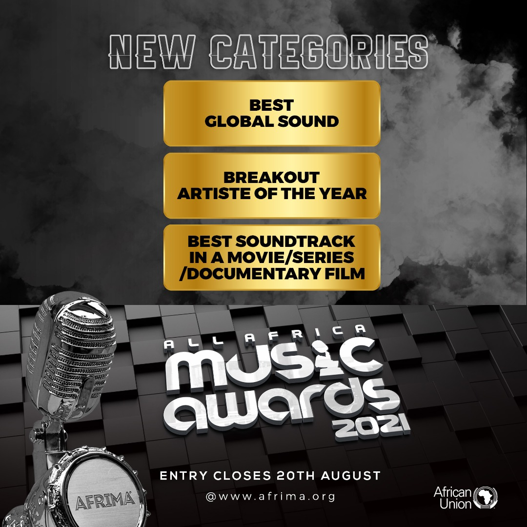 AFRIMA Announces 3 New Award Categories For 2021 Edition;Entries Submission Closes On August 20, 2021