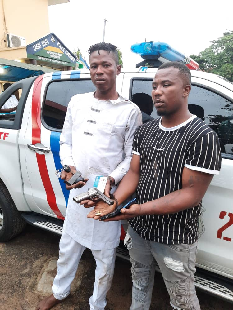 Security: Lagos RRS Arrest Dare Devil Robbers, Recovers One Locally-made Gun With 2 Rounds Of Ammunition, 4 ATM Cards