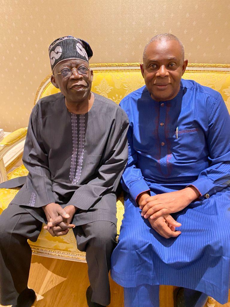 In Pictures, James Abiodun Faleke Visits Asiwaju Bola Ahmed Tinubu In London