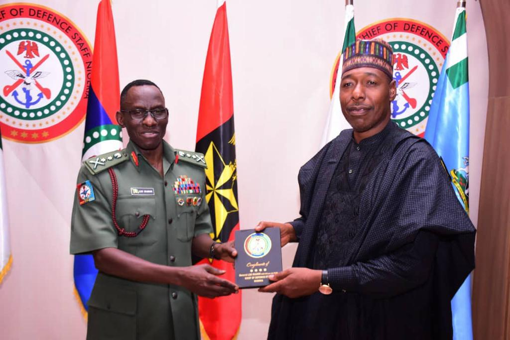 Zulum Visits CDS On How To Handle Repentant Boko Haram