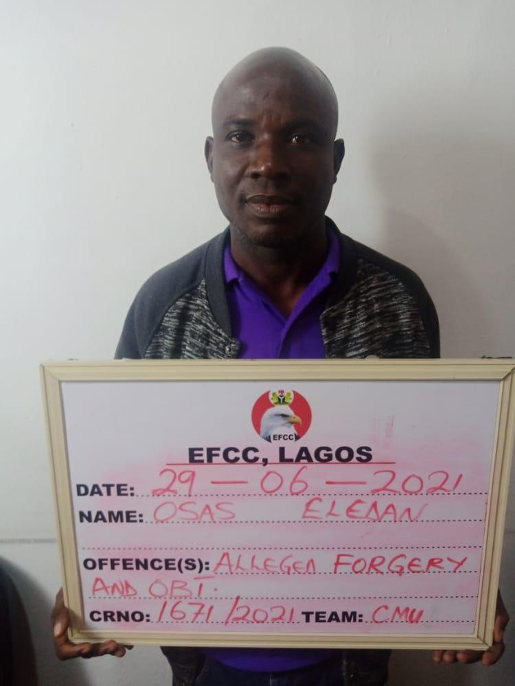 EFCC Arraigns Man For Fraud In Lagos
