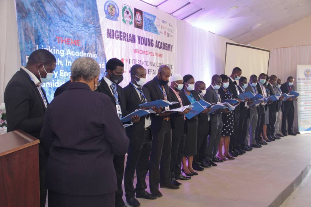 Images As Dr Abdul Azeez Anjorin Is Inducted Into Nigerian Young Academy