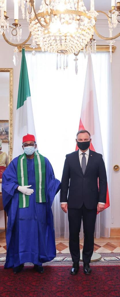 Nigerian Ambassador To Poland Presents Letter Of Credence