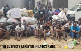 Fake Police Officer, Soldier, Corps Member among 663 Arrested As NDLEA Raids Notorious Lagos Drug Joints + Videos, Photos