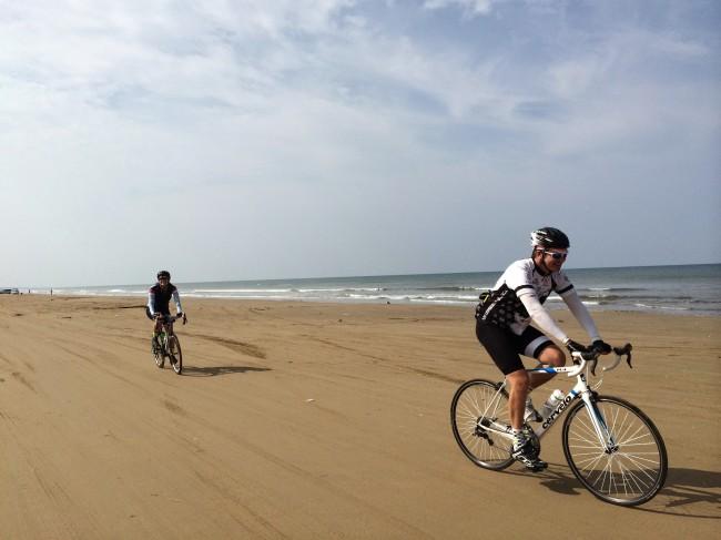 Riding Along the Beach Japan