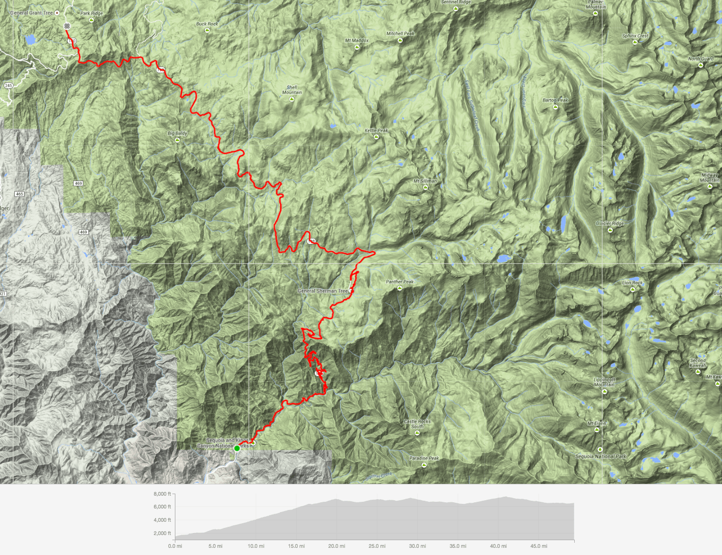 Strava Sequoia Kings Canyon