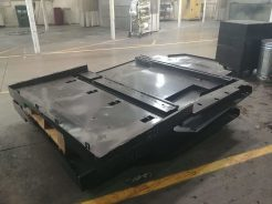 This is the new floorpan that goes under the van. It's designed and manufactured in-house.