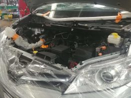 Look closely and you'll see how much lower the engine sits in this Toyota Sienna.