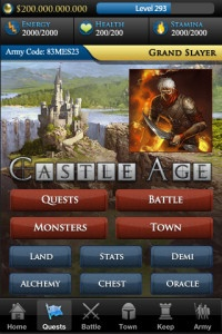 castle age game screenshot