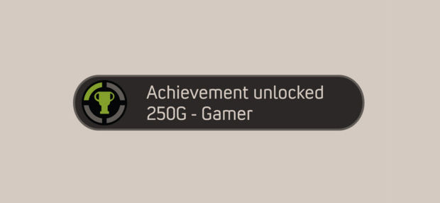 Gamer Achievement xbox badge