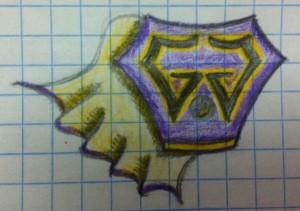 gog logo superhero cape