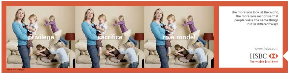 HSBC parenting advertisement